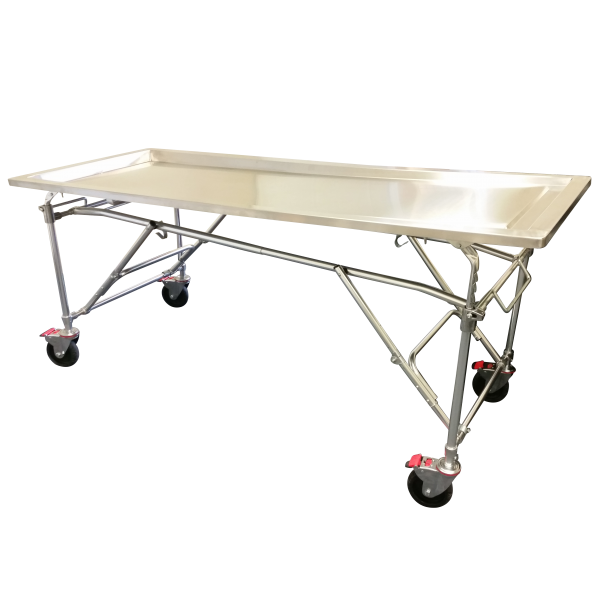 Multi-height Folding Embalming Table