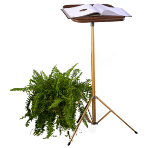 fixed-pedestal-lectern-decorated