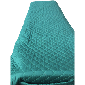 Quilted Cot Cover - Teal Green