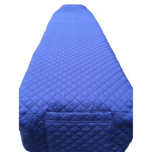 Quilted Cot Cover - Blue
