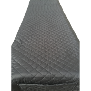Quilted Cot Cover - Grey