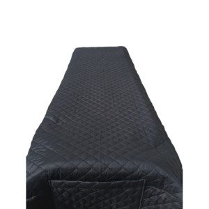 Quilted Cot Cover - Black